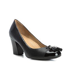 Damenschuhe, schwarz, 84-D-704-1-37, Bild 1