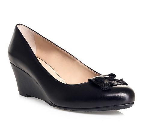 Damenschuhe, schwarz, 84-D-852-1-35, Bild 1