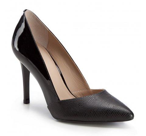 Damenschuhe, schwarz, 86-D-550-1-35, Bild 1