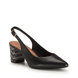 Damenschuhe, schwarz, 86-D-554-1-36, Bild 1