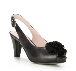 Damenschuhe, schwarz, 86-D-605-1-40, Bild 1