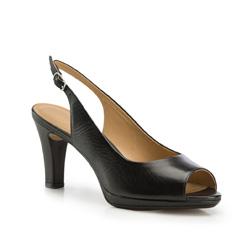 Damenschuhe, schwarz, 86-D-705-1-35, Bild 1