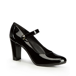 Damenschuhe, schwarz, 87-D-709-1-39, Bild 1