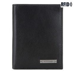 Brieftasche, schwarz-dunkelblau, 26-1-424-1N, Bild 1