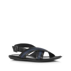Männer Schuhe, schwarz-dunkelblau, 88-M-940-1-43, Bild 1