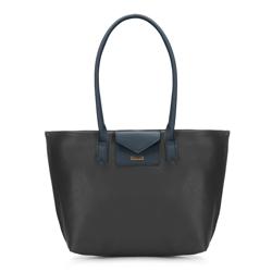 Shopper-Tasche, schwarz-dunkelblau, 88-4Y-200-1, Bild 1