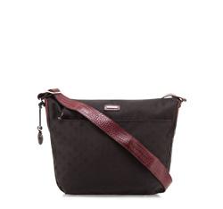 Damentasche, schwarz-dunkelrot, 85-4E-920-12, Bild 1