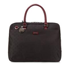 Damentasche, schwarz-dunkelrot, 85-4E-921-12, Bild 1