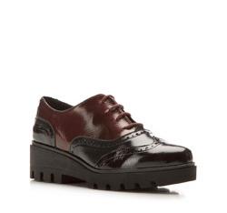 Schuhe, schwarz-dunkelrot, 85-D-302-X-36, Bild 1