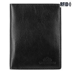 Dokumentenmappe aus Leder, einfach, schwarz, 14-2-163-L11, Bild 1