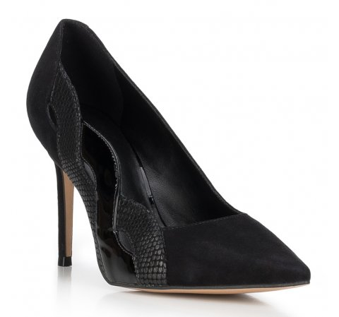 Frauen Schuhe, schwarz, 88-D-254-1-41, Bild 1