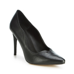 Damenschuhe, schwarz, 89-D-850-1-40, Bild 1