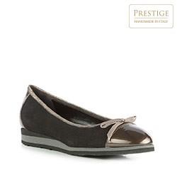 Frauen Schuhe, schwarz-gold, 83-D-106-1-36, Bild 1