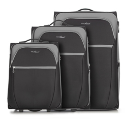 Gepäckset, schwarz-grau, V25-3S-23S-01, Bild 1