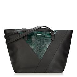 Einkaufstasche, schwarz-grün, 87-4Y-563-Z, Bild 1