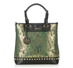 Einkaufstasche, schwarz-grün, 87-4Y-768-1, Bild 1