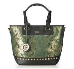 Einkaufstasche, schwarz-grün, 87-4Y-769-1, Bild 1
