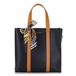 Shopper-Tasche, schwarz-grün, 88-4Y-413-1, Bild 1