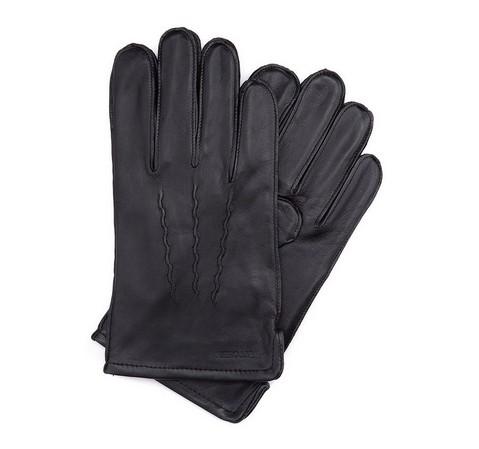 Herrenhandschuhe, schwarz, 39-6-328-1-V, Bild 1