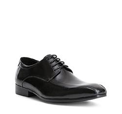Herrenschuhe, schwarz, 84-M-809-1-43, Bild 1