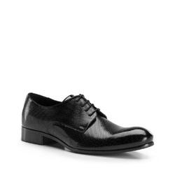 Herrenschuhe, schwarz, 86-M-608-1-43, Bild 1