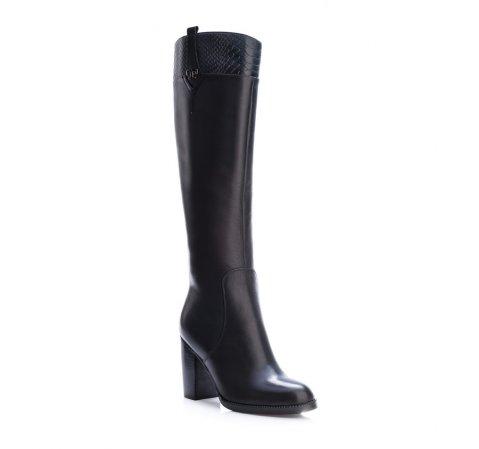 Kniehohe Stiefel, schwarz, 83-D-908-1-35, Bild 1