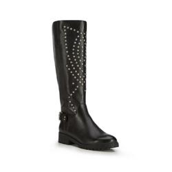Kniehohe Stiefel für Damen, schwarz, 87-D-900-1-37, Bild 1