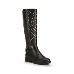 Kniehohe Stiefel für Damen, schwarz, 87-D-900-1-41, Bild 1