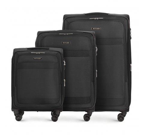 Kofferset 3-teilig, schwarz, 56-3S-58S-30, Bild 1