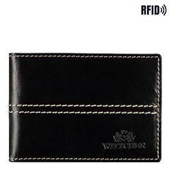 Kartenetui aus Leder mit Nähten, schwarz, 14-2-118-L1, Bild 1