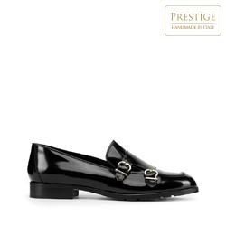 Lackledermonk- Schuhe für Damen, schwarz, 93-D-107-1-35, Bild 1