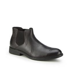 Männer Schuhe, schwarz, 87-M-943-1-45, Bild 1