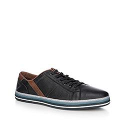 Männer Schuhe, schwarz, 88-M-803-1-45, Bild 1