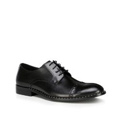 Herrenschuhe, schwarz, 89-M-507-1-45, Bild 1