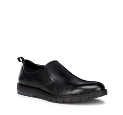 Herrenschuhe, schwarz, 89-M-508-1-39, Bild 1
