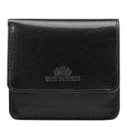Mini-Lederportemonnaie für Damen, schwarz, 14-2-003-1, Bild 1