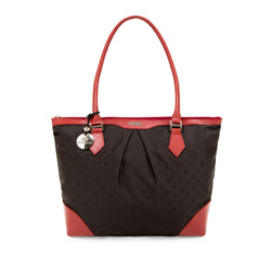 Damentasche, schwarz-rot, 85-4E-916-13J, Bild 1