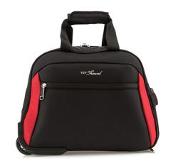 Reisetasche mit Rollen, schwarz-rot, V25-3S-237-13, Bild 1