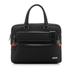 Laptoptasche, schwarz-rot, 85-3U-202-13, Bild 1