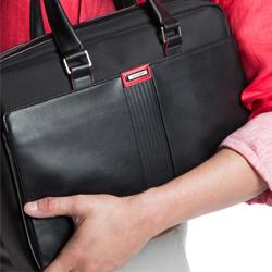 Laptoptasche, schwarz-rot, 86-3U-203-1, Bild 1