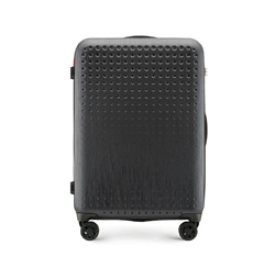 Mittelgroßer Koffer, schwarz-rot, 56-3A-412-10, Bild 1