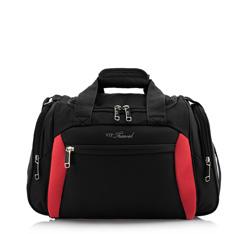 Reisetasche, schwarz-rot, V25-3S-236-13, Bild 1