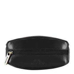 Schlüsseletui aus Leder mit Ring, schwarz, 14-2-021-L11, Bild 1
