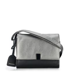 Flap-Tasche, schwarz-silber, 87-4Y-715-1S, Bild 1