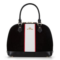 Einkaufstasche, schwarz-weiß, 90-4E-601-1, Bild 1