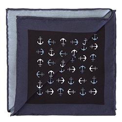 Einstecktuch für Männer, schwarz-weiß, 87-7P-002-X2, Bild 1