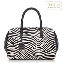Handtasche, schwarz-weiß, 87-4E-019-X2, Bild 1