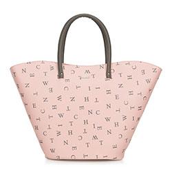 Einkaufstasche, rosa-grau, 90-4Y-551-P, Bild 1
