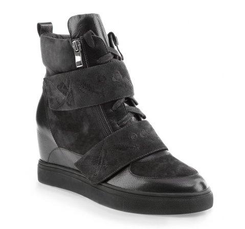 Schuhe, schwarzgrau, 85-D-917-1-35, Bild 1
