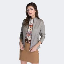 Dámská bunda, šedá, 88-09-201-8-XL, Obrázek 1